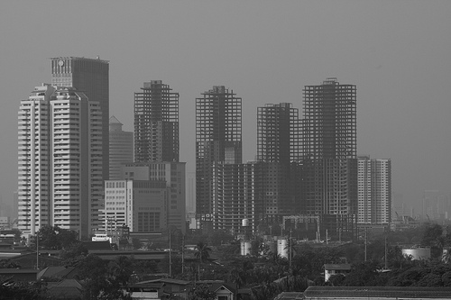 abandoned towers in Bangkok